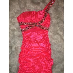 Hot Pink Cocktail Gown